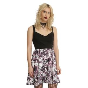 NWT Hot Topic Raven Print Dress with Pockets